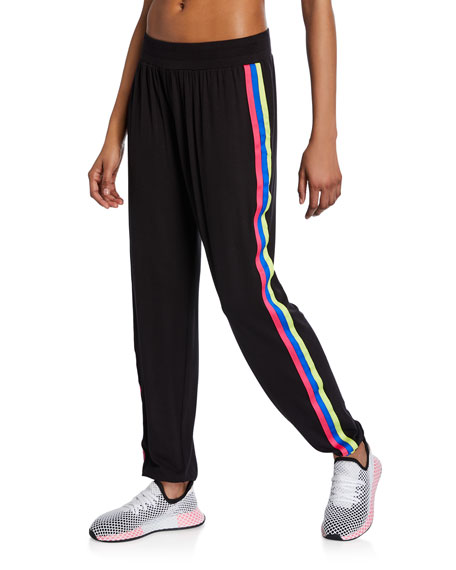 Image 1 of 1: Blackbright Ribbon Side-Stripe Jogger Pants