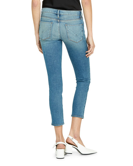Tally Mid-Rise Crop Straight-Leg Jeans