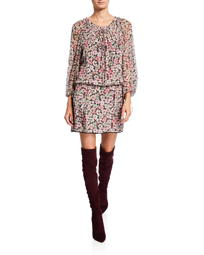 Lacy Dress w/ Billowy Sleeves