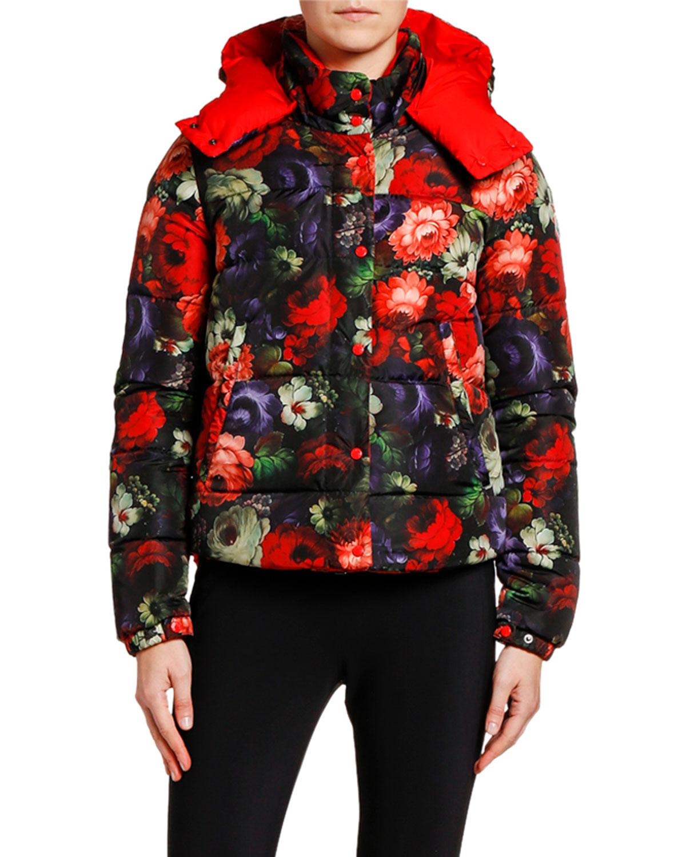 Koura Reversible Floral Puffer Jacket