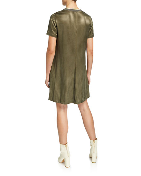 Ali Houndstooth T-Shirt Dress
