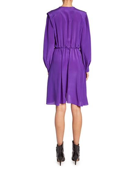 Yandra Silk Shirtdress
