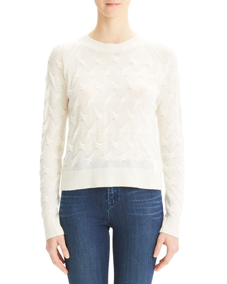Image 1 of 1: Tucked Crewneck Cashmere Sweater