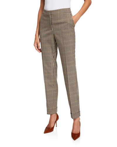 Clinton Heritage Plaid Cuffed Pants