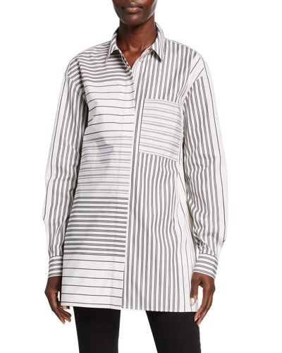 Maston Transcendent Stripe Cotton Blouse