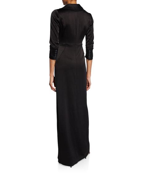 Satin Tuxedo Gown
