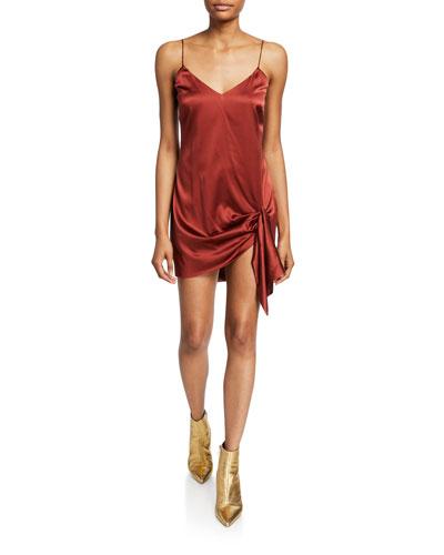 Koren Side-Tie Short Slip Dress