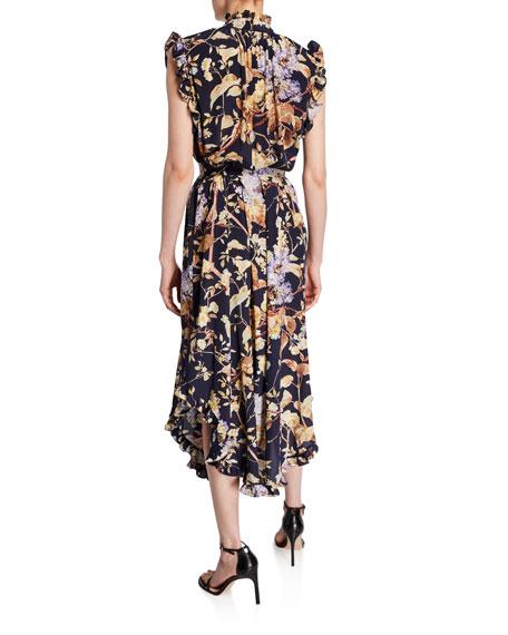 Sabotage Floral Self-Tie Midi Dress
