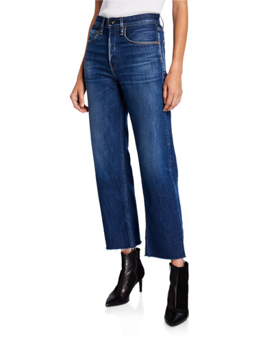 Maya High-Rise Straight Ankle Jeans