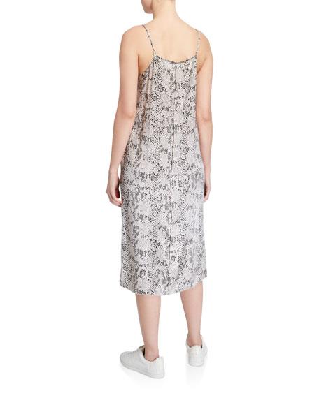 Silk Snake-Print Slip Dress