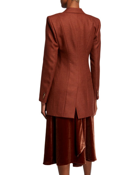 Melange Cloth Three-Button Blazer