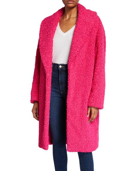 Ora Faux-Fur Shawl-Collar Oversized Coat