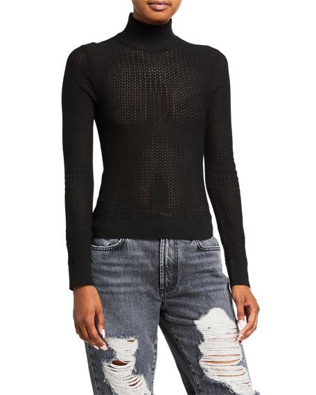 Lanie Turtleneck Long-Sleeve Pullover