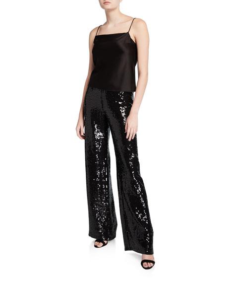 Elba Sequined Paperbag Pants