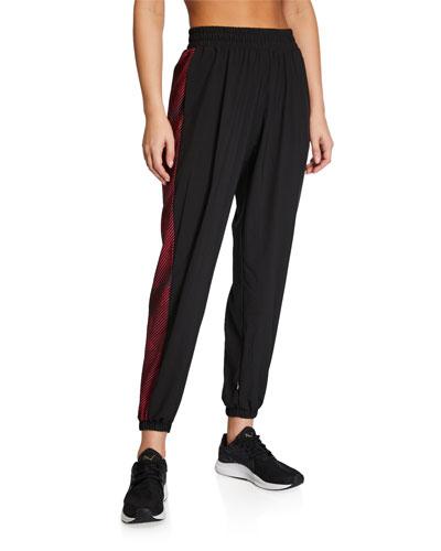 Side-Printed Wind Jogger Pants