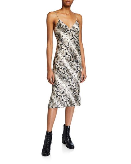 The Raven Snake-Print Slip Dress
