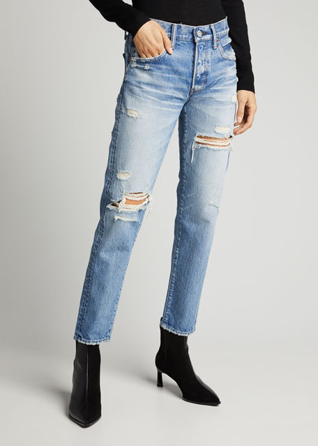 Bowie Tapered Distressed Jeans