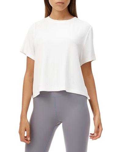 Looper Short-Sleeve Lace-Up Back Tee