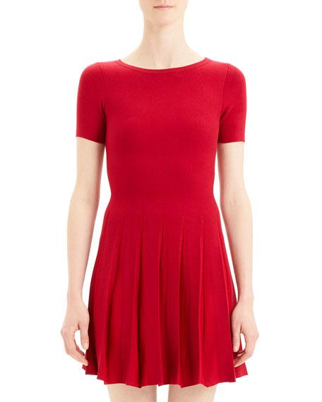 Prosecco Pleated Tee Dress