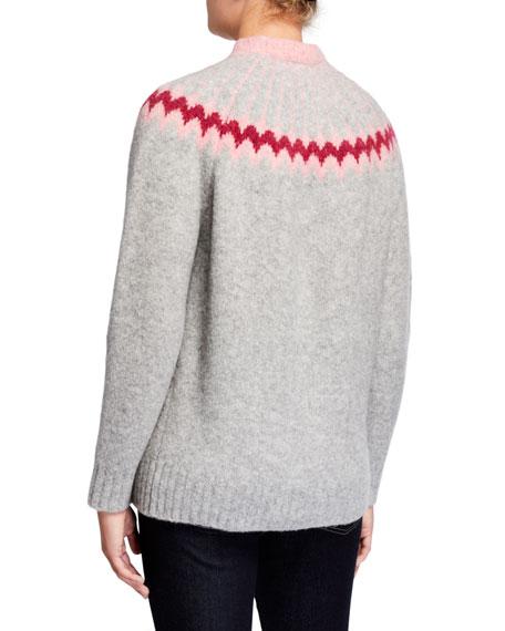 Fair Isle Crewneck Wool-Blend Sweater