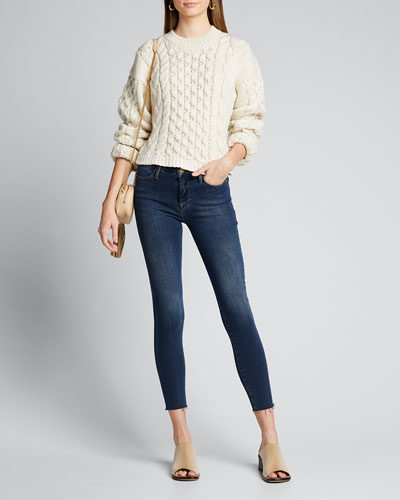 Le High Skinny Raw-Edge Jeans