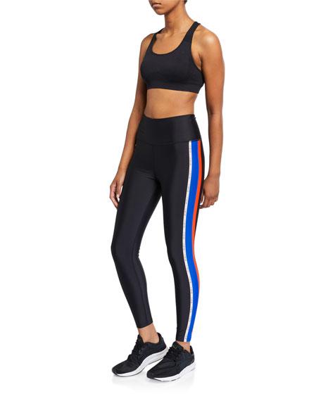 Jump Start Side-Stripe Active Leggings