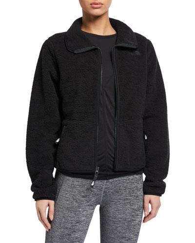 Dunraven Sherpa Fleece Zip-Front Crop Jacket