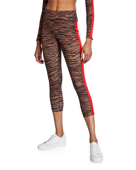 Tiger Stripe High-Rise 7/8 Leggings