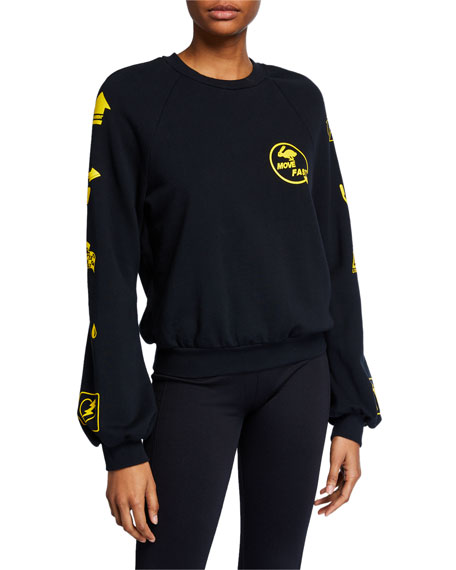 Crewneck Sweatshirt with Logos