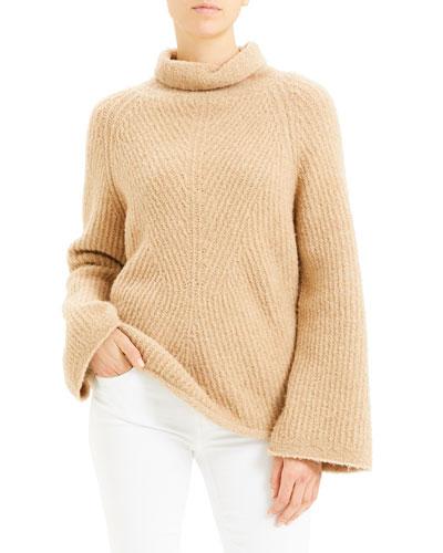 Moving Rib Turtleneck Sweater