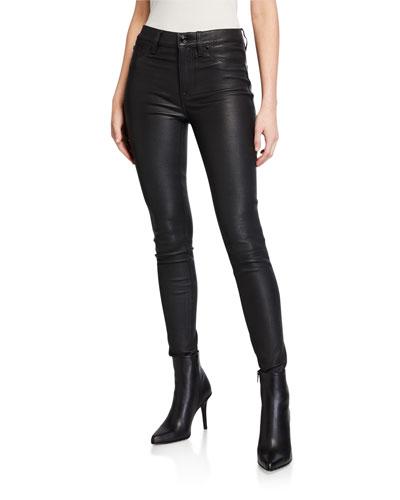 Barbara High-Rise Super Skinny Leather Pants