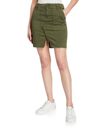 Lulu Military-Style Cargo Skirt