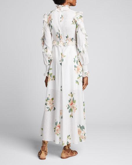 Kirra Shirred Tiered Long Dress