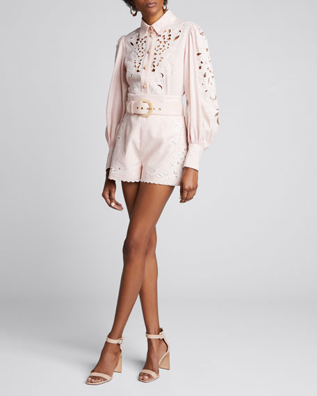 Freja Embroidered Button-Down Shirt