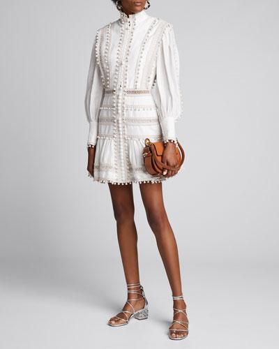 Super Eight Corded Bauble Mini Dress