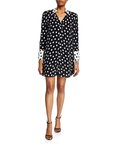 Halima French-Cuff Shirtdress