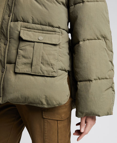 Heavy Tech Hooded Puffer Jacket