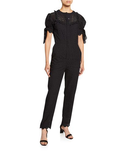 Amelie Embroidered Jumpsuit
