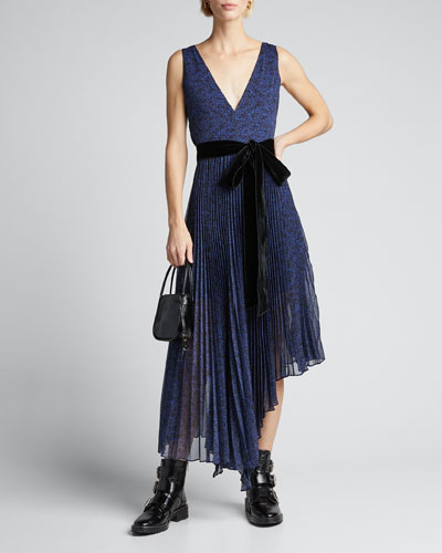 Aiden Asymmetric Midi Dress