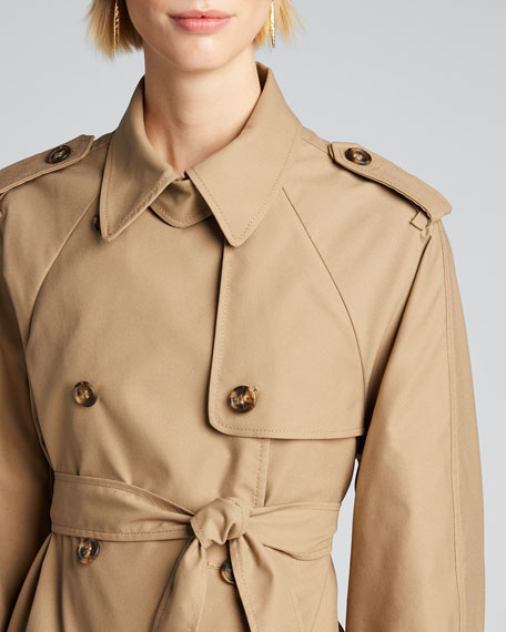 Armor Tech Flounce-Hem Trench Coat