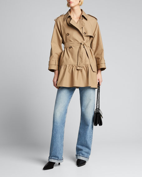 Image 1 of 1: Armor Tech Flounce-Hem Trench Coat