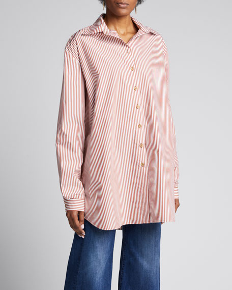 Alfie Oversized Striped Button-Down Shirt