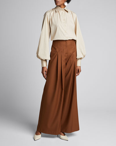 Castiglia Blouson-Sleeve Boxy Shirt