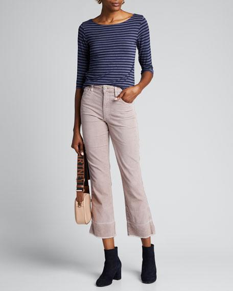 Bella Velveteen High-Rise Boot-Cut Jeans
