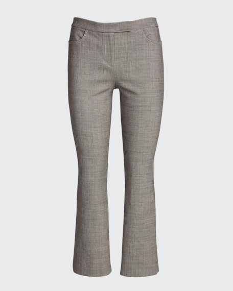 Cropped Wool Straight-Leg Pants