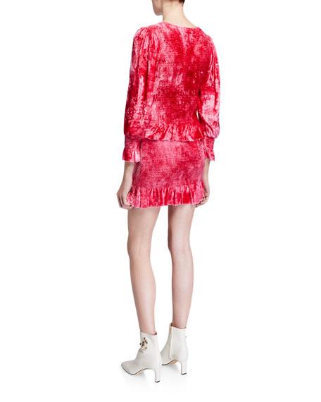 Evan Velvet Flounce Dress
