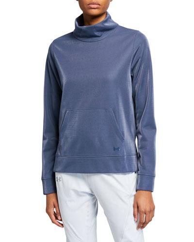Synthetic Fleece Mock Mirage Sweatshirt