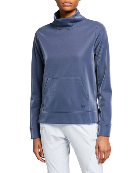 Synthetic Fleece Mock Mirage Sweatshirt