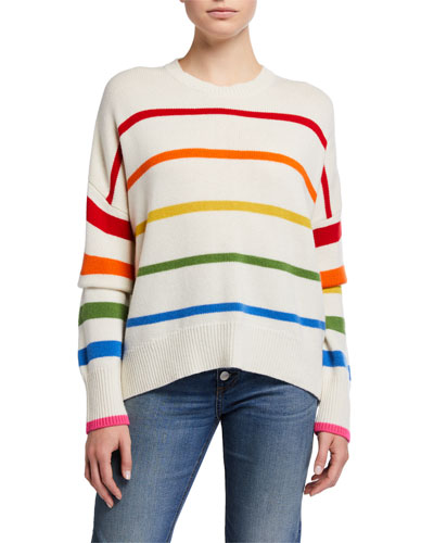 Striped Oversized Wool-Blend Sweater