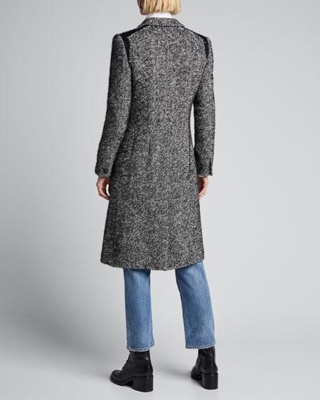 Dani Single-Button Wool Coat